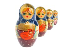 Russian matryoshka isolated on white Royalty Free Stock Images