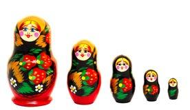Russian Matryoshka Toys. On white Stock Photography