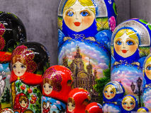 Russian matryoshkas (Nesting dolls) Royalty Free Stock Image