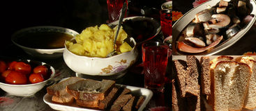 Russian meal royalty free stock photography