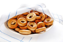 Russian meal - bread-rings Stock Images