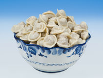 Russian meat dumplings Stock Photos