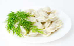 Russian meat dumplings Stock Photo