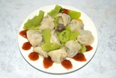 Russian meat dumplings Royalty Free Stock Images