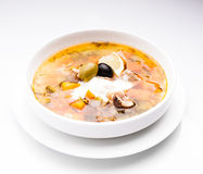 Russian meat soup Stock Photography