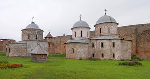 Russian medieval castle in Ivangorod. Located on the border with Estonia, not far from St. Petersburg. The photo shows the ancient Royalty Free Stock Photography