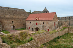 Russian medieval castle in Ivangorod. Located on the border with Estonia, not far from St. Petersburg. The photo shows a powder ma Stock Image