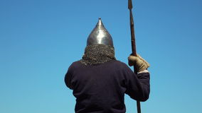 Russian medieval warrior stock video footage