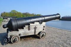 Russian memorial cannon Stock Photo