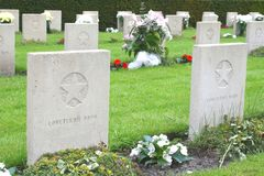 Russian Memorial cemetery, Netherlands Royalty Free Stock Photo