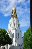 Russian Memorial Church in Leipzig Stock Image
