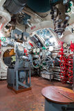 Russian memorial submarine S-56. Ð¡ontroll room. Stock Photos