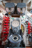 Russian memorial submarine S-56. Сontroll room. Royalty Free Stock Image