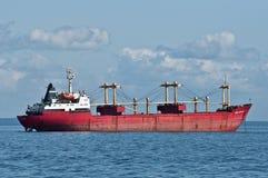 Russian Merchant Ship at Anchor Stock Photography