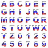 Russian metal alphabet on white royalty free stock image