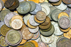 Russian metal coins. Background of russian metal coins Stock Image