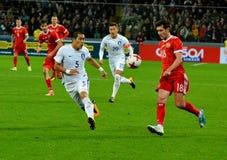 Russian midfielder Yury Zhirkov, South Korean defender Hyun-Soo Royalty Free Stock Photo