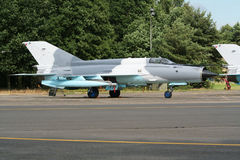 Russian MiG jet plane Royalty Free Stock Photo