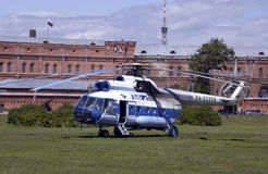 Russian Mil 8 Helicopter - St Petersburg - Russia Stock Photo