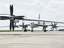 Russian Military Air Force. Russia Air Force Rocket bomber Tu-95MS Stock Image
