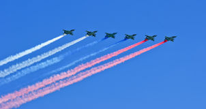 Russian military aircrafts Stock Photography
