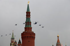 Russian military aircrafts, Moscow, Russia. Stock Photo