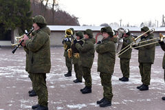 Russian military band Stock Photo