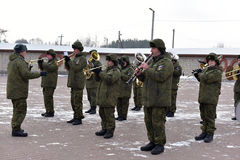 Russian military band Stock Photos