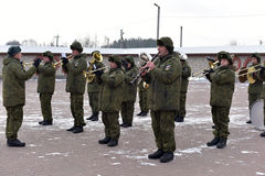 Russian military band Royalty Free Stock Photography