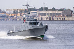 Russian military boat Stock Images