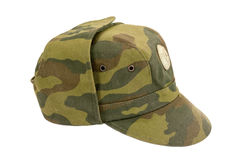 Russian Military Cap. On white background Stock Images