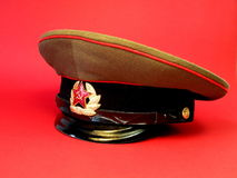 Russian military cap Stock Images