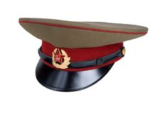 Russian Military Cap Stock Image