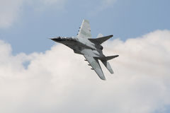 Russian military fighter jet mig 29. In flight Royalty Free Stock Image