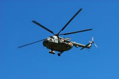 Russian military helicopter Stock Photography