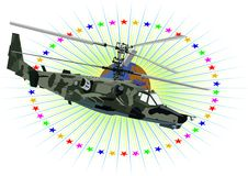 Russian military helicopter Royalty Free Stock Images