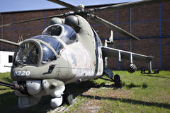 Russian military helicopter Stock Image