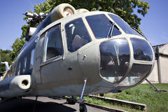 Russian military helicopter Stock Photo
