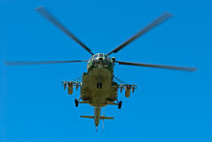 Russian military helicopter Royalty Free Stock Photos