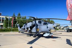 Russian helicopter mi 28 stock image