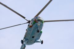 Russian military helicopter mi 8 Royalty Free Stock Photography