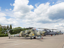 Russian military helicopter MI-28 Stock Photos