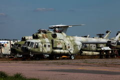 Russian military helicopters Royalty Free Stock Photos