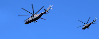 Russian military helicopters Stock Photography