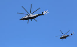 Russian military helicopters Stock Image