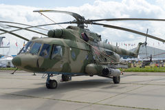 Russian military helicopters at the international exhibition. Russian military helicopters at the international exhibition in Zhukovsky Royalty Free Stock Photography