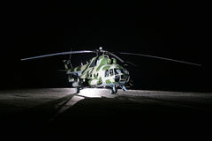 Russian military helicopters, night Royalty Free Stock Images