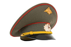 Russian Military Officer Cap. On white background Royalty Free Stock Photography