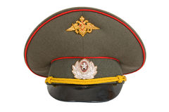 Russian Military Officer Cap. On white background Stock Images