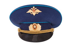 Russian military officer cap Royalty Free Stock Images